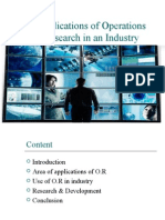 Application of Operation Research in Industry