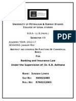 Banking and Insurance Law - Abstract and Synopsis!