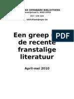 Een greep uit de recente Franstalige literatuur