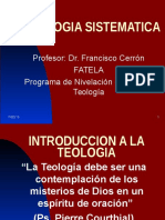Introduccion a La Teologia
