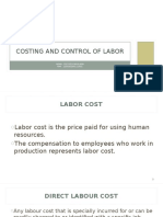 Costing and Control of Labour