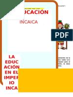 LA EDUCACIÓN en El Imperio de Los Incas
