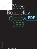 Genève, 1993, Yves Bonnefoy