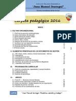 Carpeta Pedagógica 2016 - Juan Manuel Iturregui