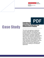 Software testing Case Study