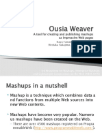 Ousia Weaver - A tool for creating and publishing mashups as impressive Web pages-