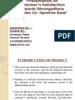 "Customer's Satisfaction Towards Dhrangadhara Peoples Co- Oprative Bank"""