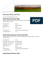 City of Burlington-Electric - February 2016 Business Rates and Fees