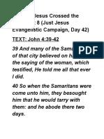 Just Jesus Evangelistic Campaign #42