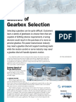 Gearbox Selection