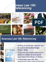 Business Law Referencing