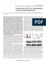 Smith Et Al (2012) - Validation of ITD Mutations in FLT3 as a Therapeutic