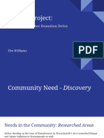 service learning project full presentation due march 2