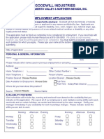 Goodwill Employment Application