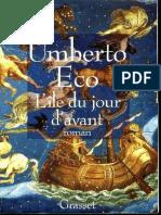 Umberto Eco - LIle Du Jour DAvant