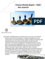 India MSME Finance Market Report - 2020