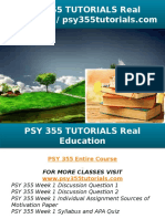PSY 355 TUTORIALS Real Education - Psy355tutorials.com