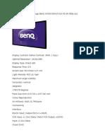 Monitor LED Digital Signage BenQ SV500 50inch Full HD 9h.f0ttb