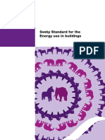 Sveby Standard for the Energy Use in Buildings