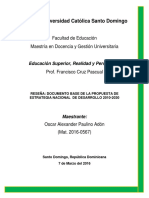 Reseña Estratégia Nacional de Desarrollo República Dominicana 2010-2030.