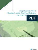 Preqin Hedge Funds Fee Debate