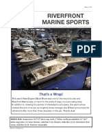 Riverfront Marine Sports March 2016 Newsletter