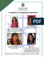 Profesores y Terapeutas Syncronía