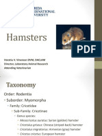 Hamster Biology Husbandry