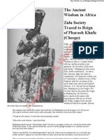 Zulu Society Traced to Reign of Pharaoh Khufu (Cheops)