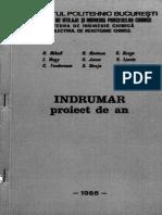 Indrumar de Proiect de an La Reactoare Chimice 1985