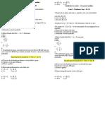 Lista I Atividades de Revisão - Geometria Analítica