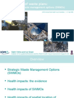Health impacts of waste plans - FINAL - UKPHA 2008