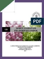 Modul Fieldtrip Usahatani FP UB untuk Kelompok