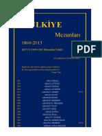 Mülkiye Mezunları (1860-2013)