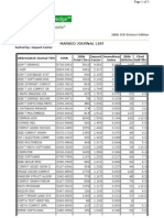ISI Journal Ranking (Impact Factor)