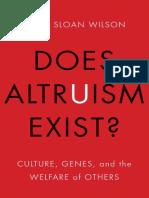David Sloan Wilson - Does Altruism Exist?