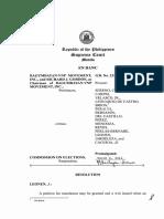 Bagumbayan v. COMELEC (G.R. 222731)