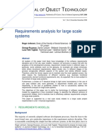 Requirements Analysis for Large Scale