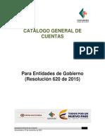 Catalogo General de Cuentas publica colombiano 2015