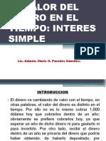 Sesion N_ 04 - El Valor Del Dinero en El Tiempo - Interes Simple.