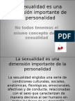 La Sexualidad Es Una Dimension Importante de La