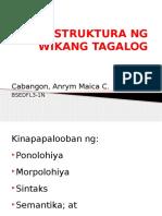 Ang Istruktura Ng Wikang Tagalog