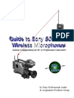 Guide to Sony 800MHz Wireless Microphones