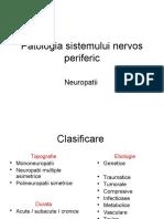 Patologia Sistemului Nervos Periferic