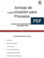 Tecnicas de Optimizacion de Procesos