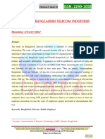 A Study on Bangladesh Telecom Industry