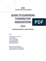 ECAS European Funding Guide for Associations 2010- Preview