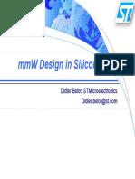 MmW Design in Silicon