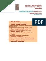 LAMPEA-Doc 2010 – numéro 14 / Vendredi 23 avril 2010