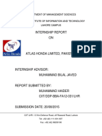 Internship Report AHL 2015.